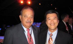 Carlos Slim Helú, Chairman, Fundación Telmex, Fundación Carlos Slim, Impulsora del Desarrollo del Empleo en América Latina and Cicsa & Jason Ma