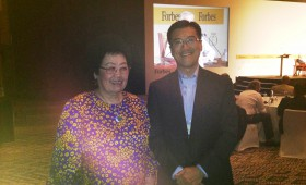 Chan Laiwa, Group Chairlady, Fuwah International Group, China and Jason Ma