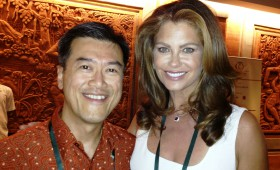 Jason Ma and Kathy Ireland, CEO and Chief Designer, kathy ireland Worldwide and former supermodel