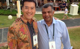Jason Ma and Tony Fernandes, Group CEO, AirAsia, Malaysia