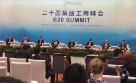H.E. Jacob Zuma, President, South Africa; H.E. Justin Trudeau, Prime Minister, Canada; Li Yanhong (Robin), Chairman & CEO, Baidu; Yang Yuanqing, Chairman & CEO, Lenovo...