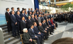 G20 Finance Ministers & Central Bank Governors, including Janet Yellen, Chair, Board of Governors, Federal Reserve System of the U.S. (The Fed) (Taken at IMF HQ, Washington, DC, April 2016)