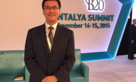 Jason Ma at B20 Summit 2015 at Antalya, Turkey