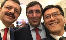 M. Rifat Hisarciklioglu, President, TOBB, & Chair, B20 2015; Cevdet Yilmaz, Deputy Prime Minister, Turkey; & Jason Ma