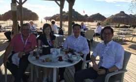 B20 delegates with Jason Ma in Antalya, Turkey