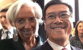 Christine Lagarde, Managing Director, International Monetary Fund (IMF), & Jason Ma