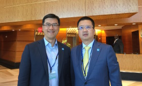 Jason Ma & Liang Xinjun, Vice Chairman & CEO, Fosun Group, & Co-Chair, B20 Employment Taskforce 2016 (Photo taken at B20 reception in Washington, DC, April 2016)