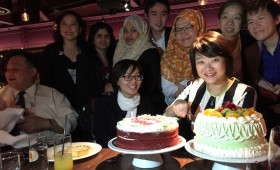 Ng Yeen Seen, COO, Asian Strategy & Leadership Institute (ASLI) & Young Global Leader, World Economic Forum, & Staff celebrating her birthday!
