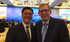 Jason Ma & Hans-Paul Burkner, Global Chairman, The Boston Consulting Group (BCG), & Co-Chair, B20 Infrastructure Taskforce