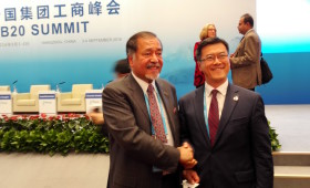 Khalid Alireza, Chairman, National Petrochemical Industrial Co. (NATPET), Saudi Arabia, & Jason Ma