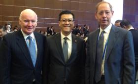 Bob Theleen, Chairman, American Chamber of Commerce, Shanghai, Jason Ma, & Kevin Jarrett, President, AmCham Shanghai