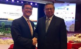 Jason Ma & H. E. Susilo Bambang Yudhoyono, former President of Indonesia