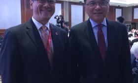 Jason Ma & The Hon. Prof. K C Chan, Secretary for Financial Services & the Treasury, Hong Kong, China