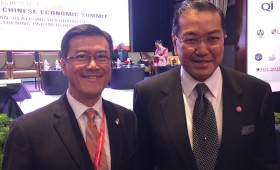 Jason Ma & H. E. Dr. Surakiart Sathirathai, Chairman, Asian Peace & Reconciliation Council, & former Deputy Prime Minister and Minister of Foreign Affairs, Thailand