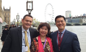 Michael Johnson, former Member of Parliament, Australia, Dato' Seri Ooi Chean See, Music Conductor & former Tourism Ambassador of Malaysia to Germany, & Jason Ma (at House of Lords, Palace of Westminster, London)