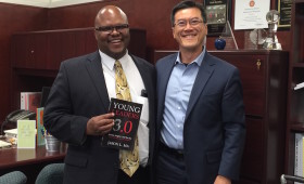 Chris Downing, Superintendent, LAUSD Local District South and Jason Ma