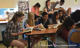 "Students reading ""Young Leaders 3.0"""